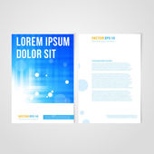 Flyer template back and front design. — Διανυσματικό Αρχείο