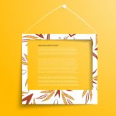 Vector white frames on the yellow wall — Stock Vector