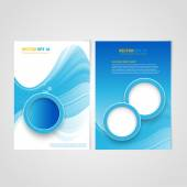 Flyer template back and front design. — Stock Vector