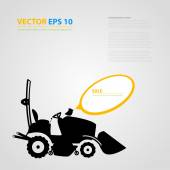 Vector isolated tractor icons. silhouettes. — Vetor de Stock