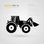 Vector isolated tractor icons. silhouettes. — Stock Vector