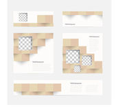 Vector banners and squares. Color set — Vector de stock