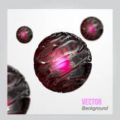 Vector Abstract 3d sphere background. — Stock Vector