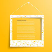 Vector white frames on the yellow wall — Vector de stock