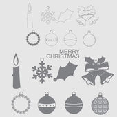 Christmas and New Year vector icon. — Stock Vector