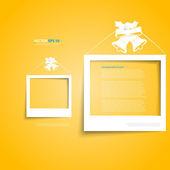 Vector white frames on the wall — Stock Vector