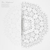 Vector Elegant background with lace ornament . — Stockvektor