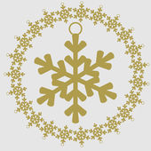 Christmas and New Year vector icon. Snowflake — Stock Vector