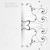 Vector Elegant background with lace ornament . — Stock Vector