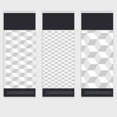 チラシ テンプレート バックとフロント デザイン. — ストックベクタ