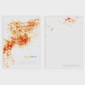 Vector Grunge template Flyer design. — Stock Vector