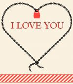 Vector valentine card - I  love you — Vector de stock