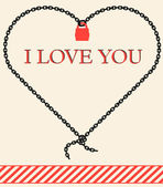Vector valentine card - I  love you — Stock Vector