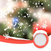 Vector Winter Christmas Blurred Glow Snowflakes. — Stock Vector