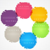 Set of hand color circles. — Stock Vector