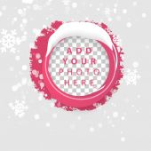 Red circle and snow — Stock Vector