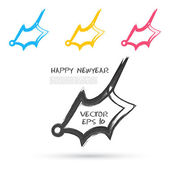 Vector sketch style of bells icons. — Stock Vector