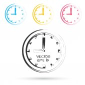 Vector sketch style of clock icons. — Stok Vektör