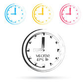 Vector sketch style of clock icons. — Stock Vector