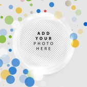 Vector abstract circle with place for photo — Stock Vector