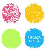 Vector Grunge set of  circles — Stock Vector