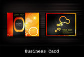 Vector black business card set — Stock Vector