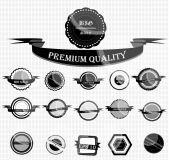Vintage Styled Premium Quality. Label collection — Stock Vector