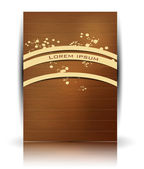 Vector wood texture. Retro card — Stock Vector