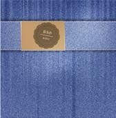 Vector jeans background.  folds — Vector de stock