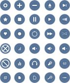 Media and Entertainment Web Icons — Stock Vector