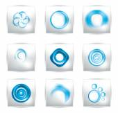 Vector abstract water and circle.  bubbles — Stock Vector