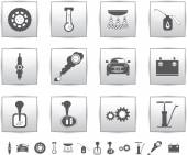 Vector car set icons. auto service square — Stockvektor