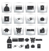 Vector collection web icon. Set pictogram — Vettoriale Stock