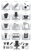 PrintVector set of office  icon.  button armchair — Vector de stock