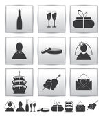 Vector collection web icon. Set wedding — Vettoriale Stock