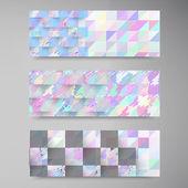 Vector polygon banner white — Stock Vector