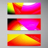 Vector polygon stown set banner — Stock Vector