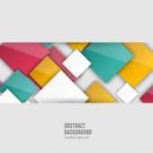 Vektorové barevné čtverce. Abstraktní pozadí — Stock vektor