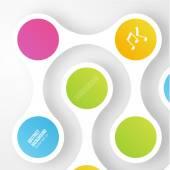 Vector color circles.  infographic Color molecule — Stock Vector