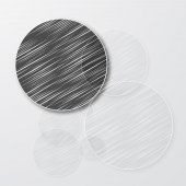 Vector drawn circle. Abstract background pattern — Vettoriale Stock