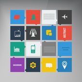 Vector flat UI design trend icons. — Stock Vector