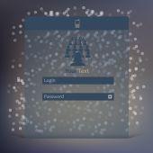 Vector flat UI design trend interface — Stock Vector