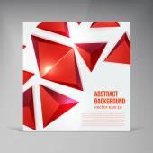 Vector squares. Abstract background red — Stock Vector