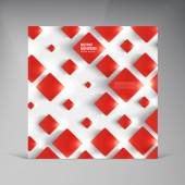 Vector  square. Abstract background card red. — 图库矢量图片