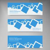 Vector  banner. Abstract blue brochure squares — Vecteur