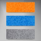 Vector banners and squares. Color set — Stock Vector
