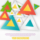Vector abstract triangles background. Object web — Stock Vector