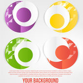 Vector abstract circles template. Object web — Stock Vector