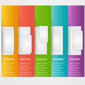 Abstract triangle template banner. Color set — Stock Vector