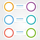 Vector abstract circles template. Object design — Stock Vector